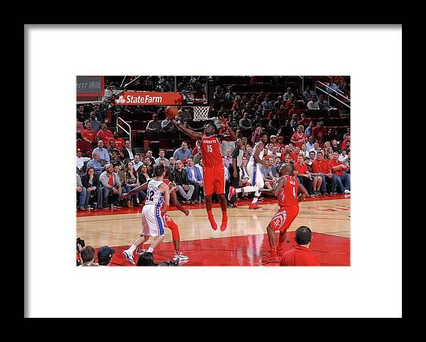 Nba Pro Basketball Framed Print featuring the photograph Clint Capela by Bill Baptist