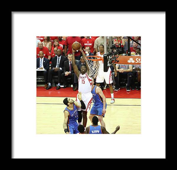 Playoffs Framed Print featuring the photograph Clint Capela by Nathaniel S. Butler
