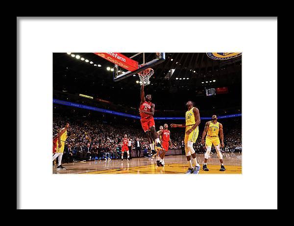 Nba Pro Basketball Framed Print featuring the photograph Clint Capela by Noah Graham