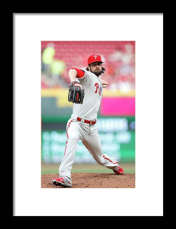 Great American Ball Park Framed Print featuring the photograph Cole Hamels by Joe Robbins