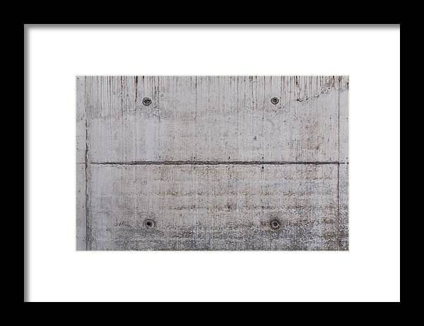 Material Framed Print featuring the photograph Concrete Wall Background by R.Tsubin