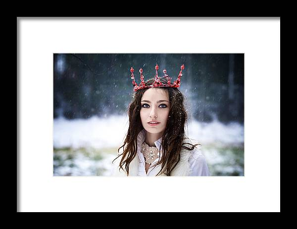 Crown Framed Print featuring the photograph coronation of Queen by Sergeeva