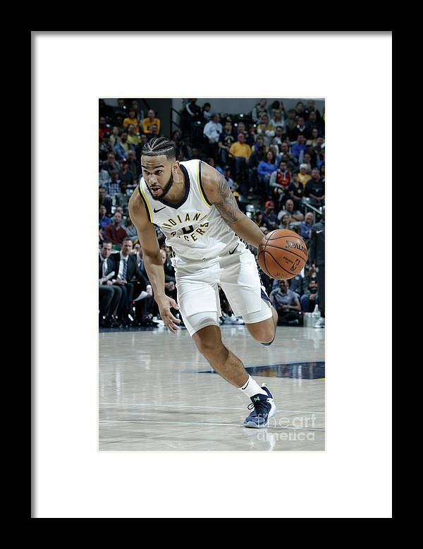 Nba Pro Basketball Framed Print featuring the photograph Cory Joseph by Ron Hoskins