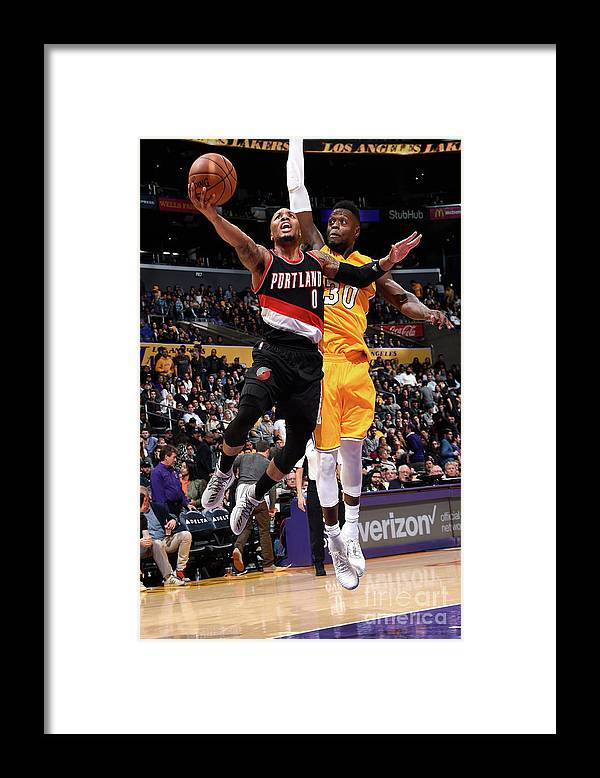 Nba Pro Basketball Framed Print featuring the photograph Damian Lillard by Andrew D. Bernstein