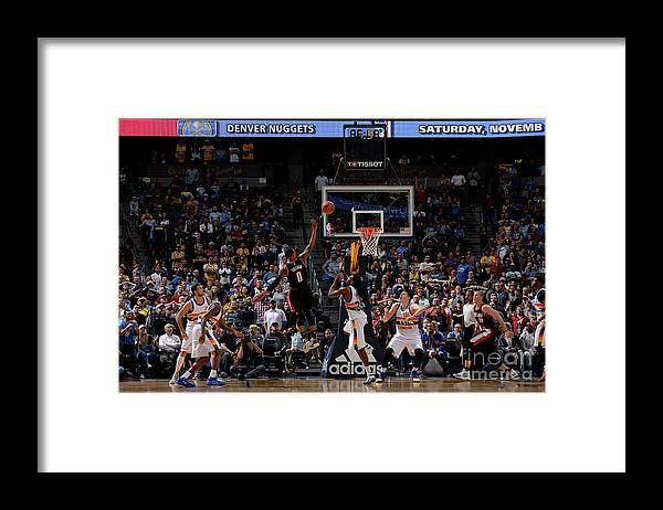Nba Pro Basketball Framed Print featuring the photograph Damian Lillard by Bart Young