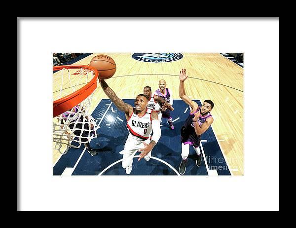 Nba Pro Basketball Framed Print featuring the photograph Damian Lillard by David Sherman