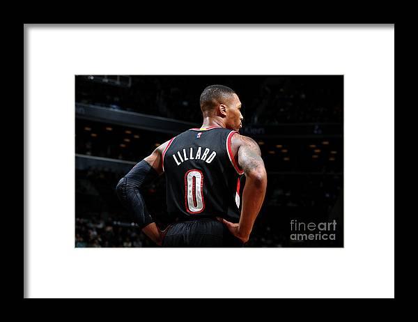 Nba Pro Basketball Framed Print featuring the photograph Damian Lillard by Nathaniel S. Butler