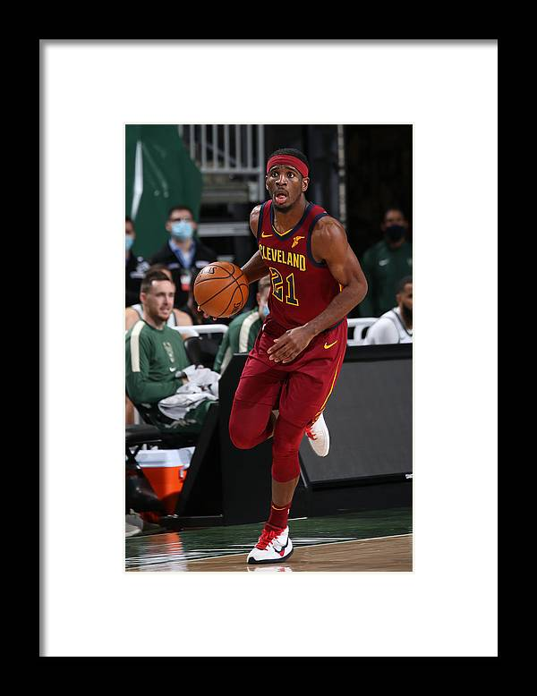Nba Pro Basketball Framed Print featuring the photograph Damyean Dotson by Gary Dineen
