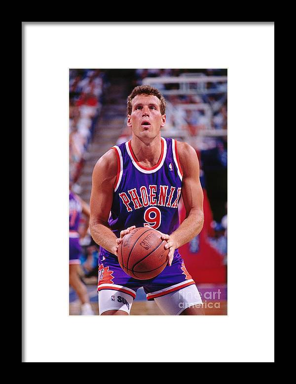 Nba Pro Basketball Framed Print featuring the photograph Dan Majerle by Rocky Widner
