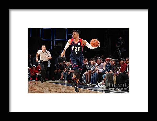 Event Framed Print featuring the photograph D'angelo Russell by Nathaniel S. Butler