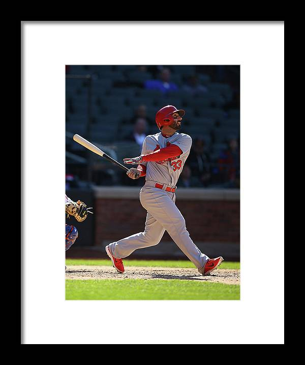 St. Louis Cardinals Framed Print featuring the photograph Daniel Fields by Al Bello
