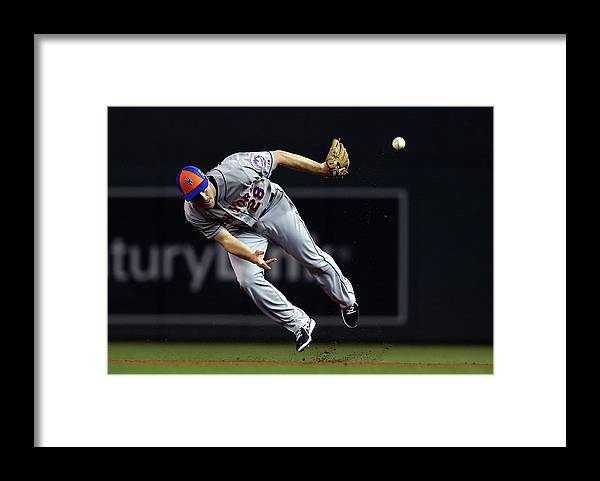 American League Baseball Framed Print featuring the photograph Daniel Murphy by Elsa
