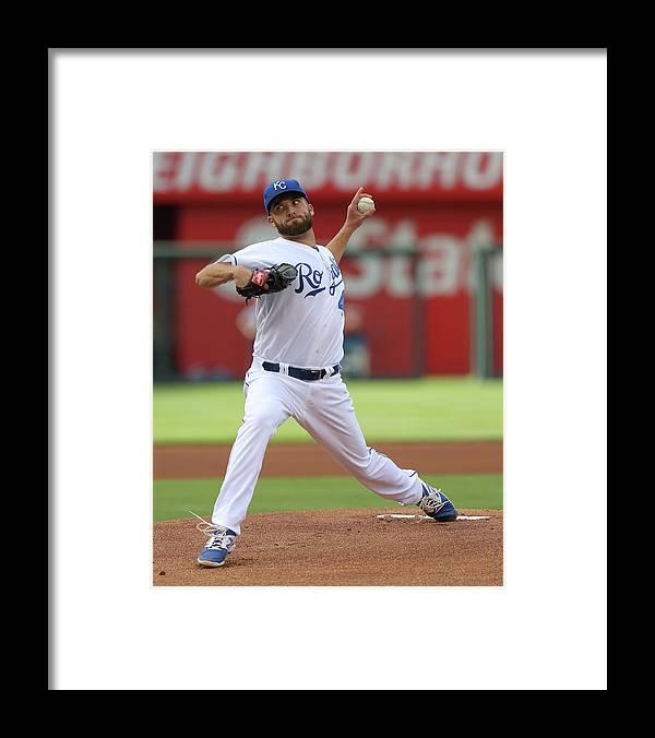 American League Baseball Framed Print featuring the photograph Danny Duffy by Ed Zurga