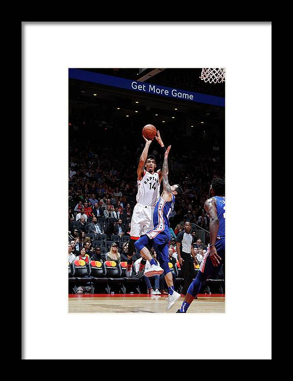 Nba Pro Basketball Framed Print featuring the photograph Danny Green by Mark Blinch