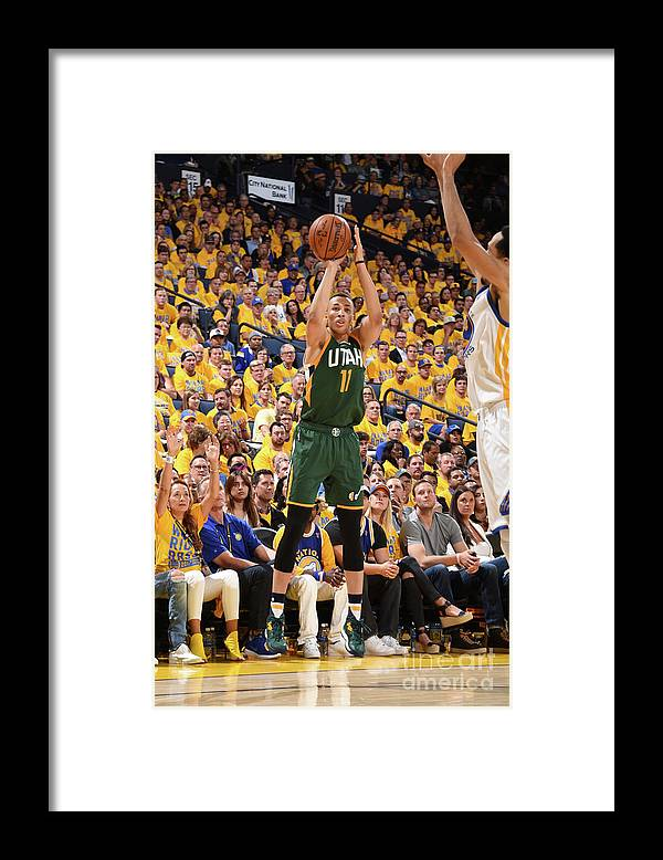 Playoffs Framed Print featuring the photograph Dante Exum by Andrew D. Bernstein