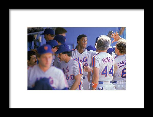 1980-1989 Framed Print featuring the photograph Darryl Strawberry by Andrew D. Bernstein
