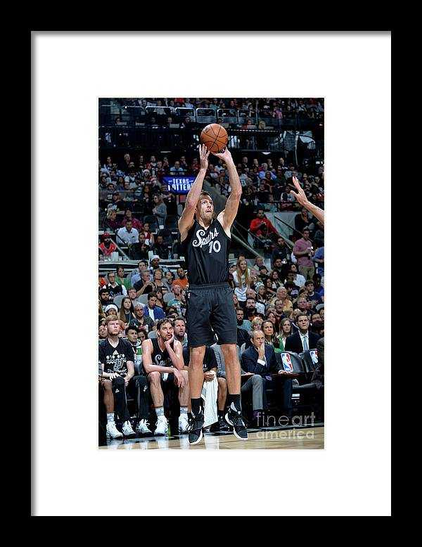 Nba Pro Basketball Framed Print featuring the photograph David Lee by Mark Sobhani