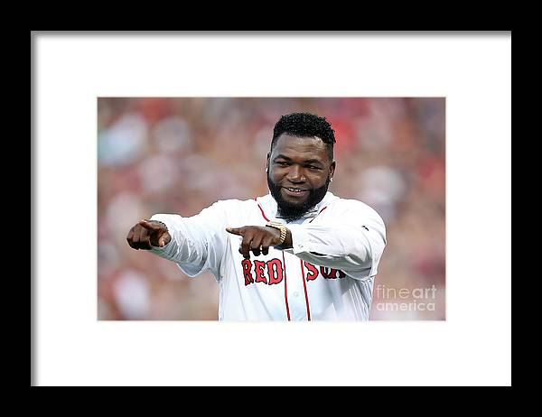 People Framed Print featuring the photograph David Ortiz by Adam Glanzman