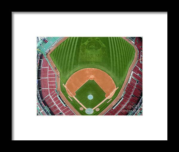 Grass Framed Print featuring the photograph David Ortiz by Billie Weiss/boston Red Sox