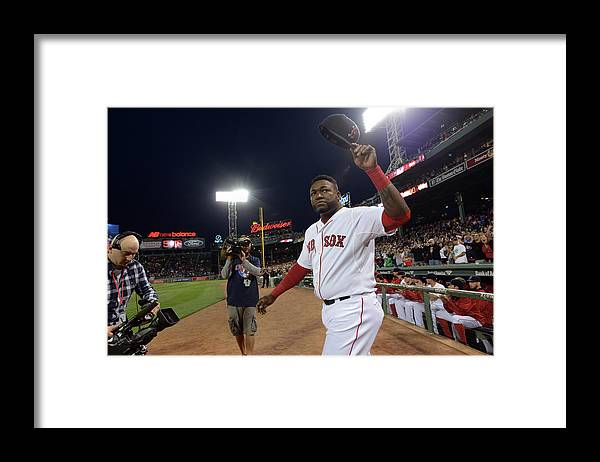 Crowd Framed Print featuring the photograph David Ortiz by Darren Mccollester