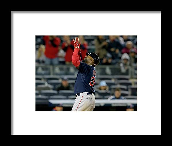 Three Quarter Length Framed Print featuring the photograph David Ortiz by Elsa