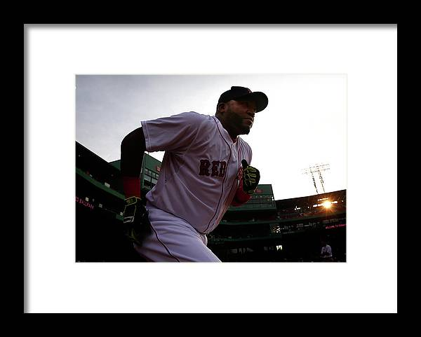American League Baseball Framed Print featuring the photograph David Ortiz by Jared Wickerham
