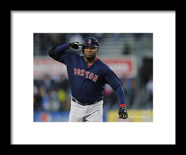 Three Quarter Length Framed Print featuring the photograph David Ortiz by Rich Schultz