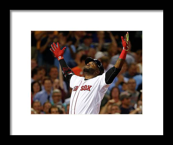 People Framed Print featuring the photograph David Ortiz by Winslow Townson