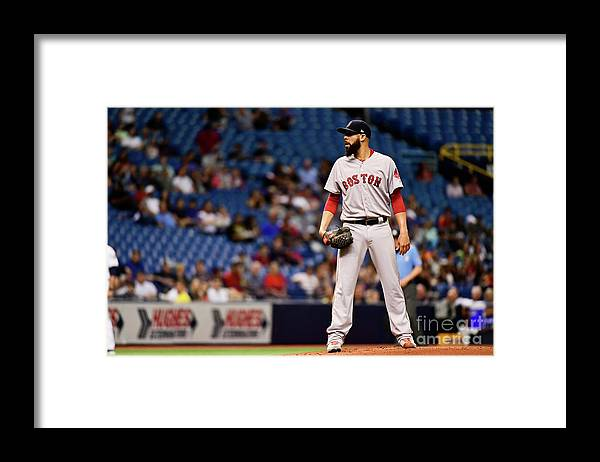 David Price Framed Print featuring the photograph David Price by Julio Aguilar