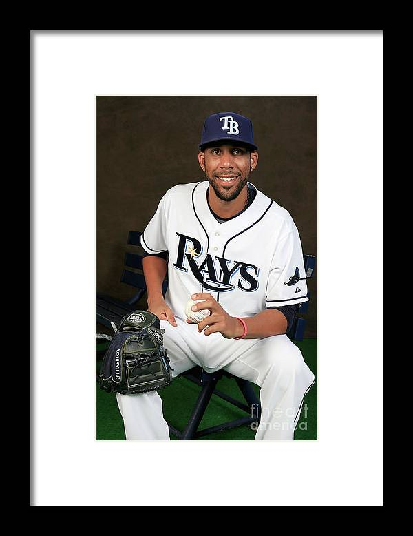 Media Day Framed Print featuring the photograph David Price by Rob Carr