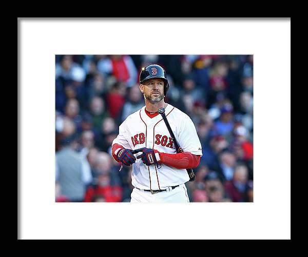American League Baseball Framed Print featuring the photograph David Ross by Jared Wickerham