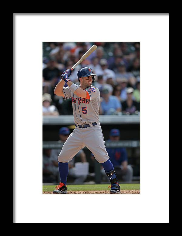 National League Baseball Framed Print featuring the photograph David Wright by Doug Pensinger