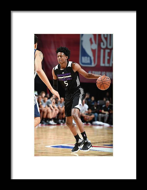 Nba Pro Basketball Framed Print featuring the photograph De'aaron Fox by Garrett Ellwood