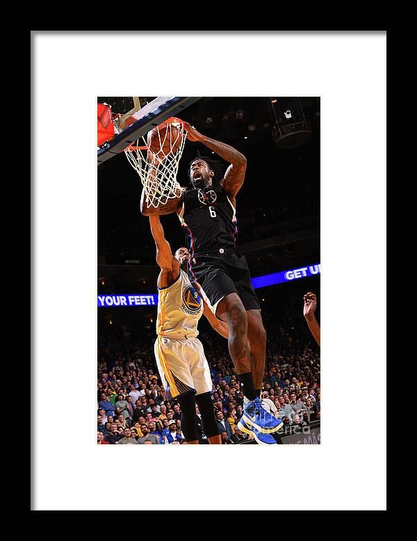 Nba Pro Basketball Framed Print featuring the photograph Deandre Jordan by Noah Graham