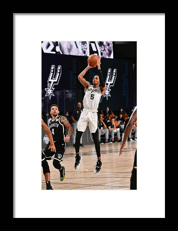 Nba Pro Basketball Framed Print featuring the photograph Dejounte Murray by Jesse D. Garrabrant