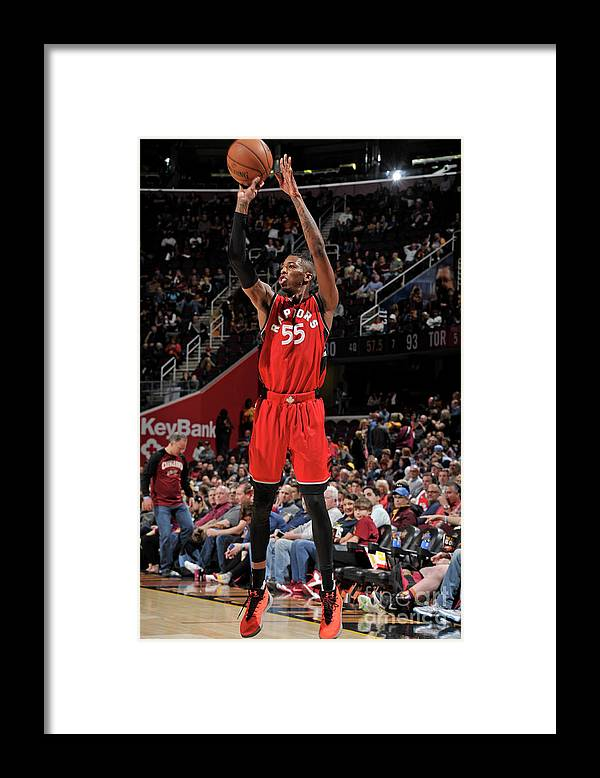 Nba Pro Basketball Framed Print featuring the photograph Delon Wright by David Liam Kyle