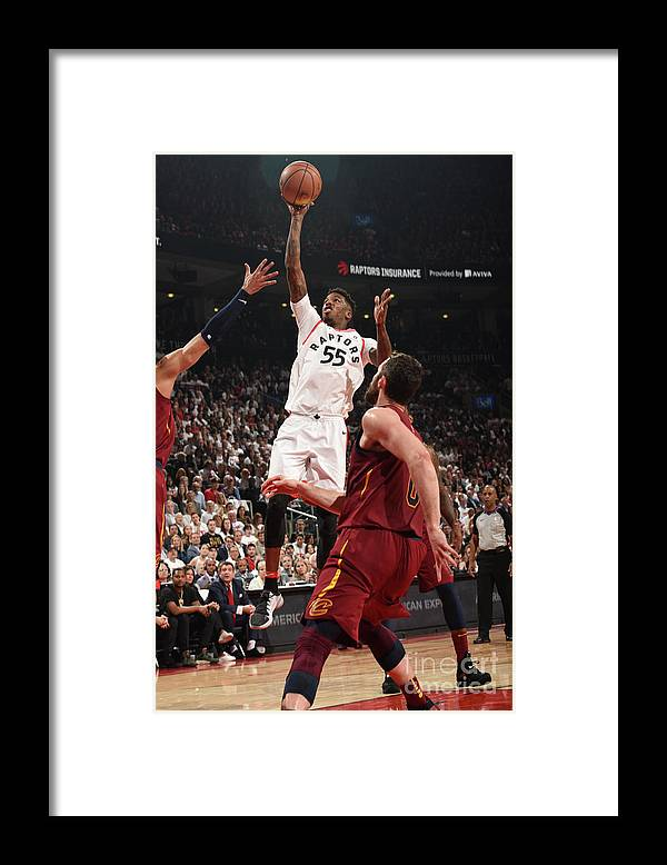 Playoffs Framed Print featuring the photograph Delon Wright by Ron Turenne