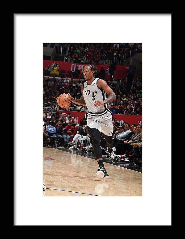 Nba Pro Basketball Framed Print featuring the photograph Demar Derozan by Adam Pantozzi
