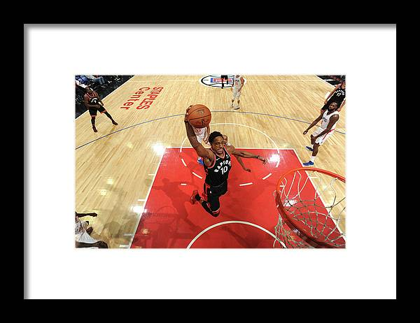 Nba Pro Basketball Framed Print featuring the photograph Demar Derozan by Andrew D. Bernstein