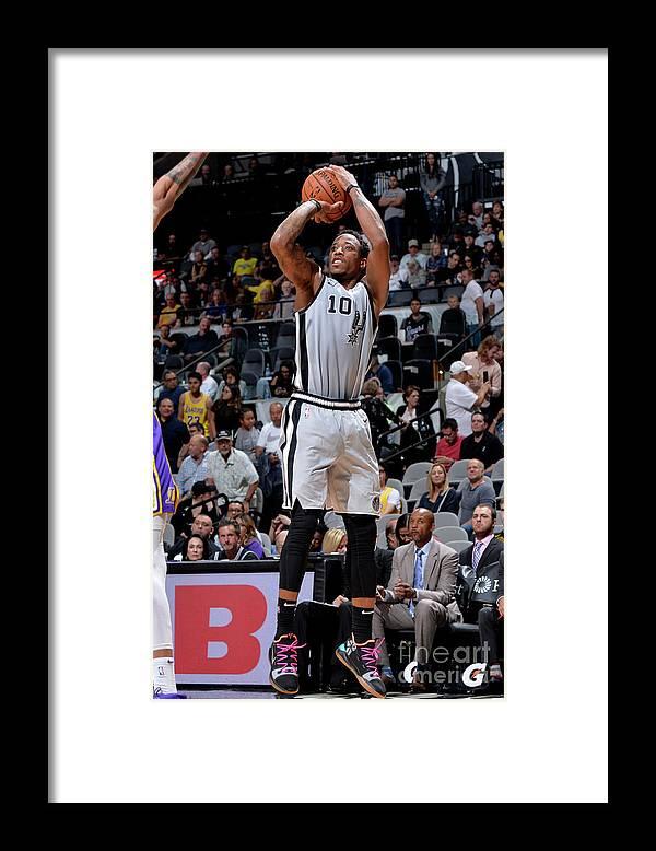 Nba Pro Basketball Framed Print featuring the photograph Demar Derozan by Mark Sobhani