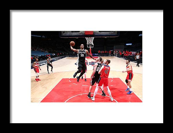 Nba Pro Basketball Framed Print featuring the photograph Demar Derozan by Ned Dishman