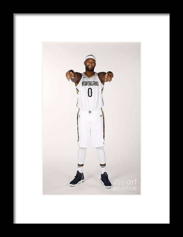 Media Day Framed Print featuring the photograph Demarcus Cousins by Jonathan Bachman