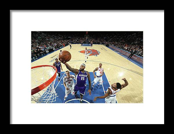 Nba Pro Basketball Framed Print featuring the photograph Demarcus Cousins by Nathaniel S. Butler