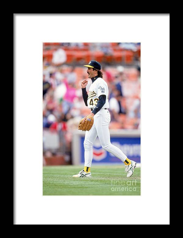 1980-1989 Framed Print featuring the photograph Dennis Eckersley by Don Smith
