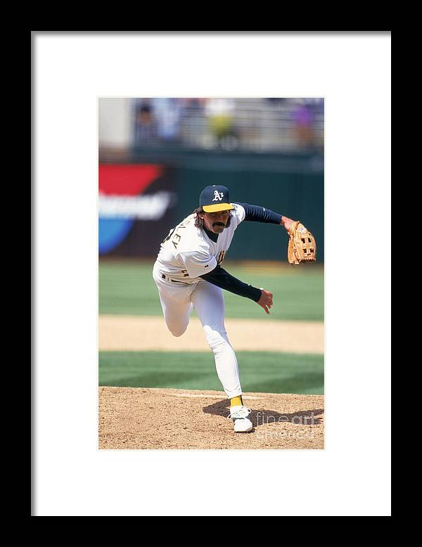 Oakland Framed Print featuring the photograph Dennis Eckersley by Jeff Carlick
