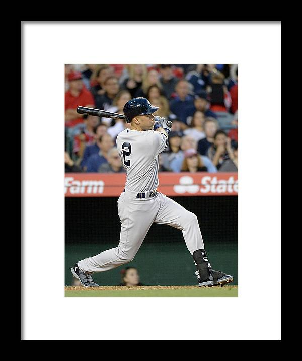 Second Inning Framed Print featuring the photograph Derek Jeter by Harry How