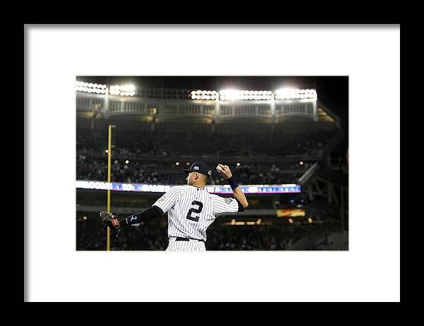 Derek Jeter Framed Print featuring the photograph Derek Jeter by Jed Jacobsohn