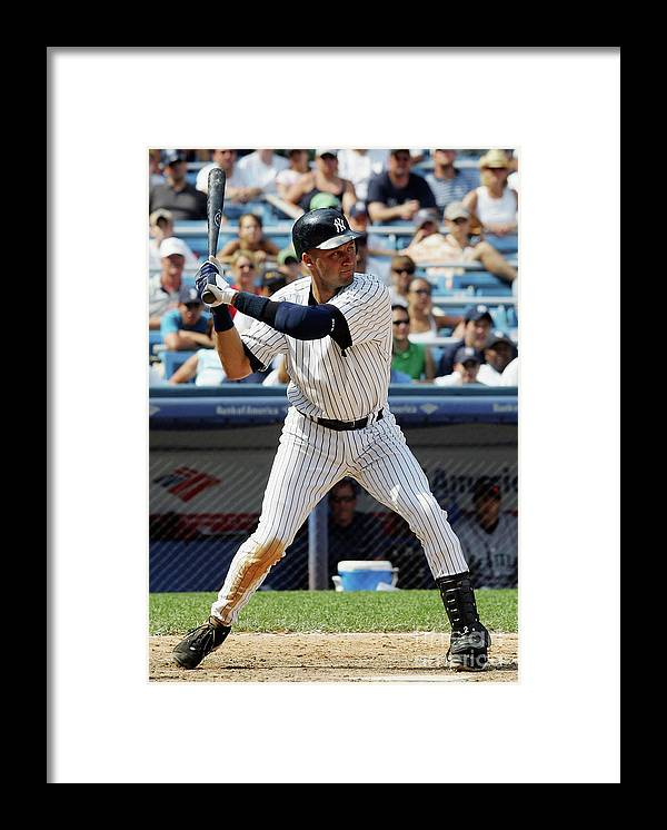 People Framed Print featuring the photograph Derek Jeter by Jim Mcisaac