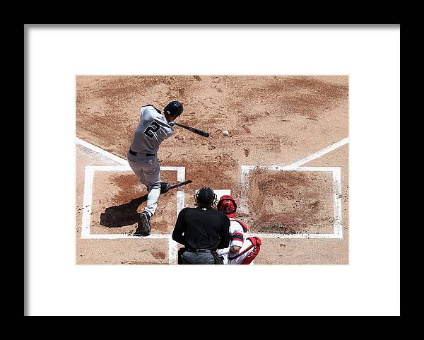 American League Baseball Framed Print featuring the photograph Derek Jeter by Jonathan Daniel