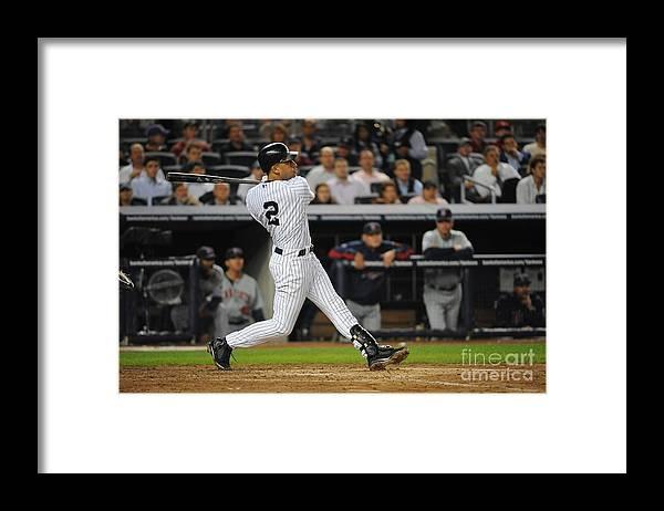 Playoffs Framed Print featuring the photograph Derek Jeter by Rich Pilling